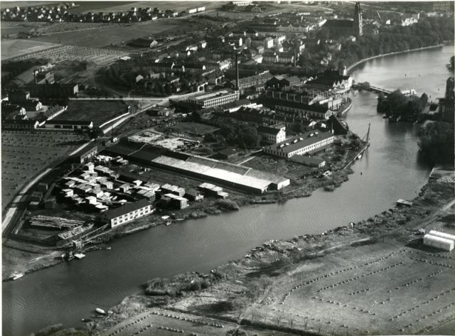 Flygfoto från 1930, Foto: Aero Materiel AB, Eskilstuna stadsmuseum.