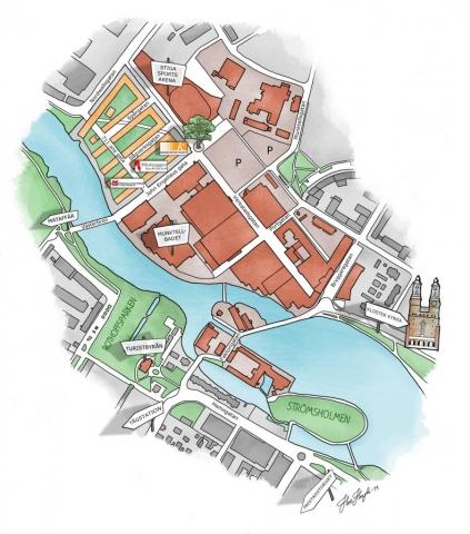 Karta Västa Munktellstaden